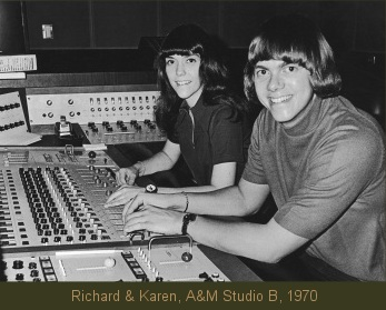 Richard Carpenter, Karen Carpenter, at A&M Studio B, 1970